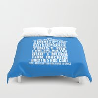 tardis Duvet Covers featuring Tardis by Tombst0ne
