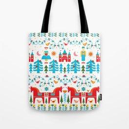 Scadinavian Fairytale Bright Tote Bag