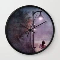 italian Wall Clocks featuring ITALIAN LOVE by INA FineArt