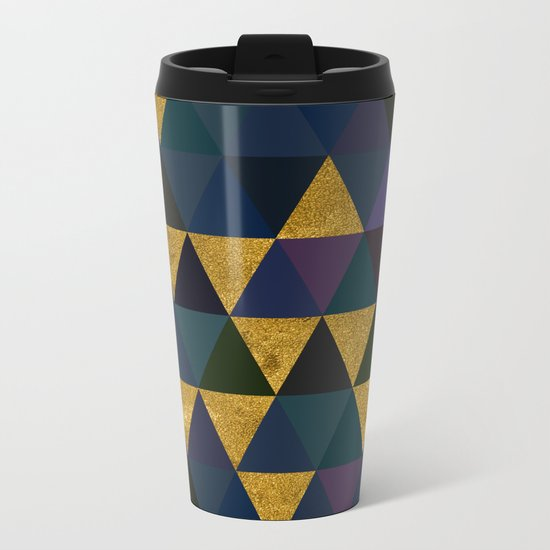 Abstract #318 Metal Travel Mug
