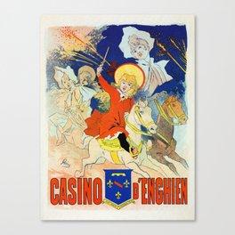 1890 Casino Enghien France Canvas Print