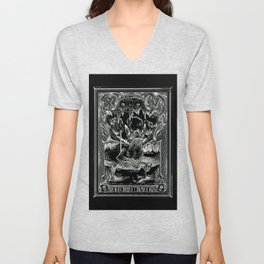 THE DEVIL of Tarot Cats Unisex V-Neck