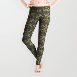 Venus Flytrap Mandala_Dark Grey Leggings