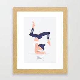 Kossy Yoga blue Framed Art Print