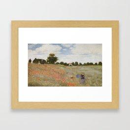Claude Monet's Coquelicots: La Promenade Framed Art Print
