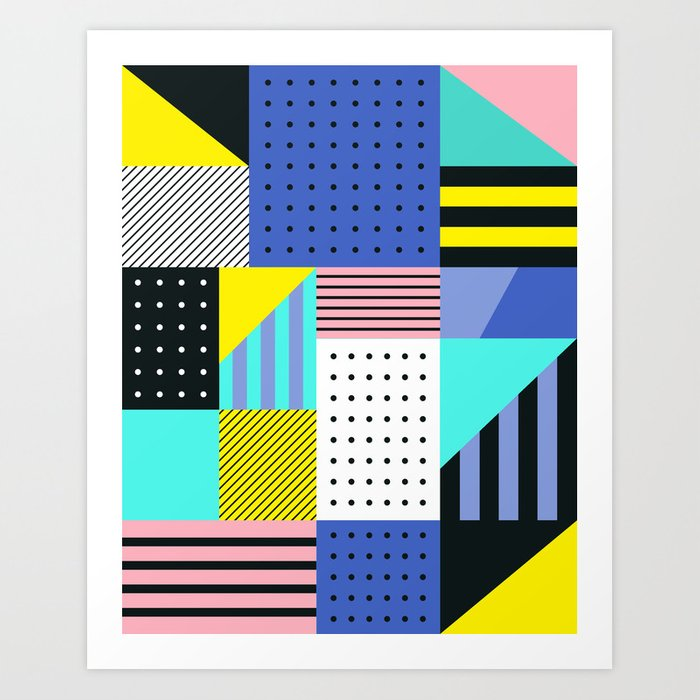 Patchwork Two Art Print
