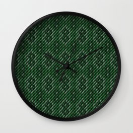 Green Patterned Snakeskin Wall Clock