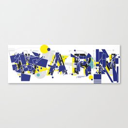 Warn Canvas Print