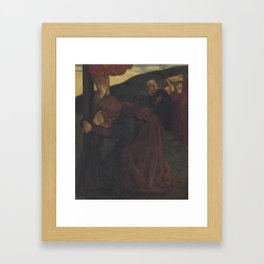 Dante Gabriel Rossetti,  St John comforting the Virgin at the foot of the cross (After the Ninth Hou Framed Art Print
