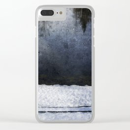 Cold Blue River Clear iPhone Case