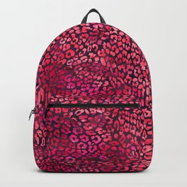 Red Leopard Print Backpack