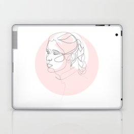 Princess Organa - single line art Laptop & iPad Skin
