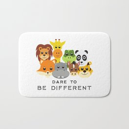 Dare to Be Different Gang of Animals Bath Mat