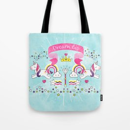 Dream Big Unicorn Carousel Tote Bag