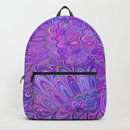 Purple Feather Magic Mandala Backpack
