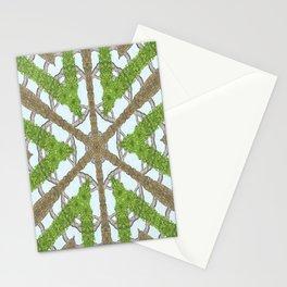 Bark Leaves Stone Kaleidoscope Art 1 Stationery Cards