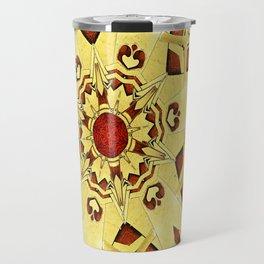 Brass and Burl Mandala Travel Mug