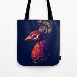 Peacock Sunset Tote Bag