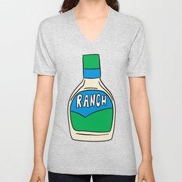 Ranch Dressing Bottle Unisex V-Neck