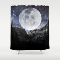 starry night Shower Curtains featuring Starry night by emegi