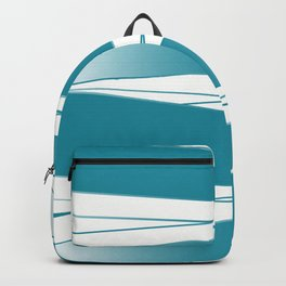 White and blue Backpack