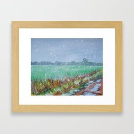 Snowing Framed Art Print