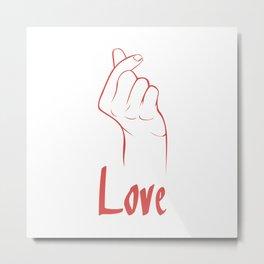 """Hangul """"i love you"""" Metal Print"""
