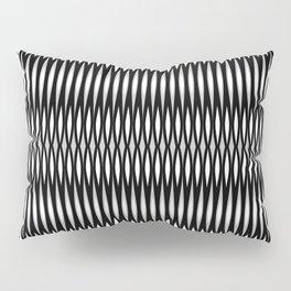 Mod Slashes in Black and White Pillow Sham