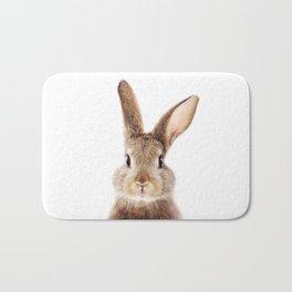 Baby Rabbit, Brown Bunny, Baby Animals Art Print By Synplus Bath Mat