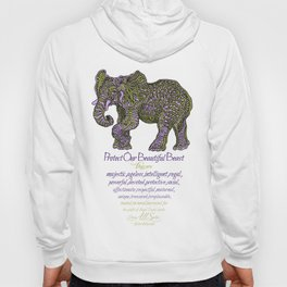 Elephant are Beautiful Hoody