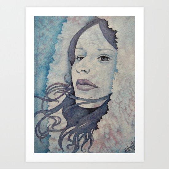 January White Art Print