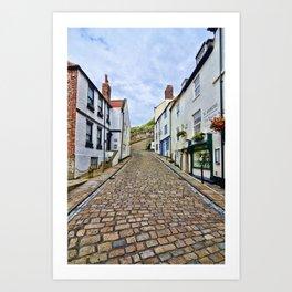 Church Lane Whitby Art Print