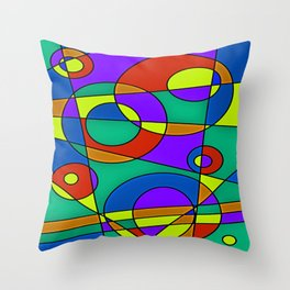 Abstract #61 Throw Pillow