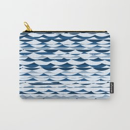 Glitch Waves - Classic Blue Carry-All Pouch