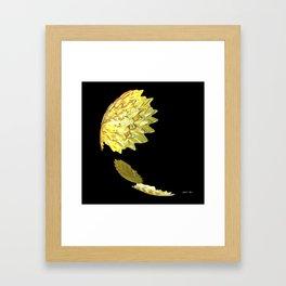 Falling Yellow Leaves Framed Art Print