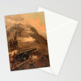 Civil War Capture of Fort Fisher by J.O. Davidson Stationery Cards