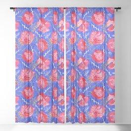 Marsala #illustration #pattern Sheer Curtain