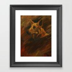 Native American Indian Dog Framed Art Print