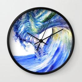 Watercolor Sunny Wave Wall Clock