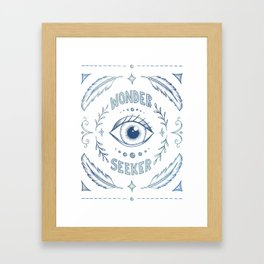 Wonder Seeker - Blue Framed Art Print