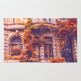 Dressed Up in Autumn - New York City Brownstones Rug