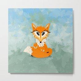 Foxy Mamma Metal Print