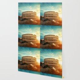 Colosseum Amphitheatre Rome Italy Wallpaper