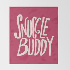 Snuggle Buddy x Pink Throw Blanket