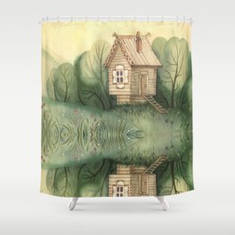 small hut Shower Curtain