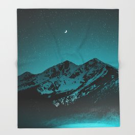 Mountains at night series II // Boulder Colorado Throw Blanket