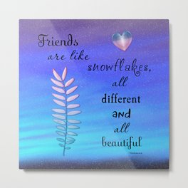 Beautiful Friends Metal Print