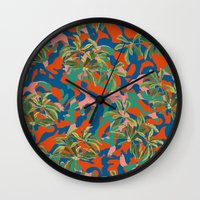 camouflage Wall Clocks featuring CAMOUFLAGE by DIVIDUS DESIGN STUDIO
