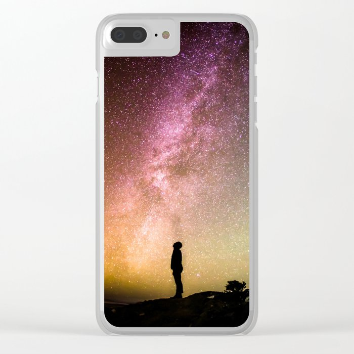 Me against the universe Clear iPhone Case