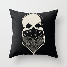 Cover your Mouth Throw Pillow